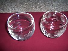 2 Princess House Heritage Punch Bowl Rolly Glasses cups