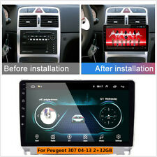 Car Android 9.0 9''Car Radio Multimedia Player For Peugeot 307 307CC 307SW 04-13