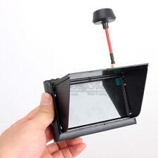 "FX-F408 4.3"" Pantalla LCD FPV Monitor Receptor Negro Atado Con Alambre AV A2"