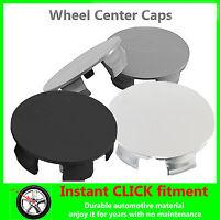 4x WHEEL Center CAPS Universal HUB Rims HUBCAPS ALL CAR Sizes CHROME Black GRAY