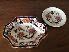 2 Mason's Blue Mandalay pattern vintage trinket dishes