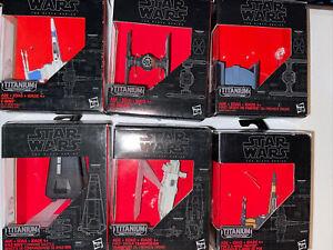 Star Wars The Black Series Titanium Lot of 6, #02, 03, 04, 12, 13 & 14 X-Wing