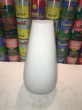 "Vintage MC Modern 12"" Gerold Porzellan Bavaria All White Porcelain 6807/I Vase"