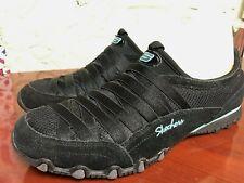 Skechers Bikers Black Slip On Sneakers Laceless Womens Shoes 8.5