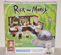 Rick and Morty Spaceship Garage Mcfarlane Construction Set NEW