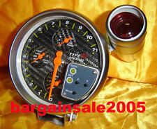 "5"" 4-in-1 TACHOMETER TACHO SHIFT LIGHT Carbon face"
