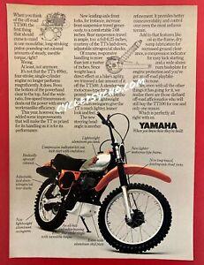 Vintage Motocross Motorcycle Magazine Ad Yamaha TT500