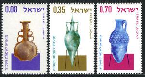 Israel 264-266, MNH. Jewish New Year, 5725. Ancient Glass Vase, 1964