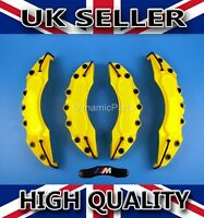 BMW M TECH BRAKE CALIPER COVERS CAPS SET KIT FOR FRONT AND REAR YELLOW ABS 4PCS