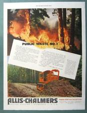 10x13 Original 1951 Allis Chalmers Crawler Ad STOP PUBLIC WASTE NUMBER ONE