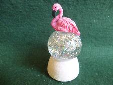 Hallmark Gift Bag Flamingo Snow Globe Changing Color Swirling Glitter NEW