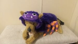 *Top Paw Pet Halloween Collection* Dogs -L- Purple Fuzzy Hook/Loop Hoodie Spider