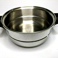"""Saladmaster Double Boiler 8"""" Pot Insert Replacement Only Stainless Steel Vtg F1"""