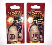 2 x Areon Fresco Black Crystal Car Aroma Perfume Tree Air Freshener HOME OFFICE