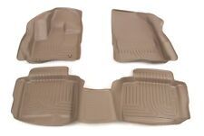 2010-2013 Ford Taurus Husky Tan WeatherBeater Front & 2nd Row Floor Liners