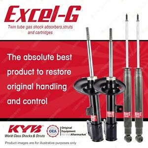 Front + Rear KYB EXCEL-G Shock Absorbers for PEUGEOT 308 RHR RHH FWD Wagon