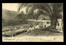 Africa France Cols CONGO Francais Drying Coffee Beans  u/b PPC