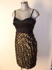 Kleid in Schwarz/Gold Gr.M Marke Orsay