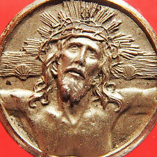 HOLY CHRIST OF LIMPIAS SILVER MEDAL OLD JESUS FACE RELIGIOUS CHARM PENDANT