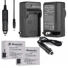 2LP-E8 Battery + Charger for Canon Rebel T3i T2i T4i T5i EOS 550D 600D 650D 700D
