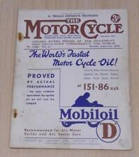 MOTOR CYCLE MAGAZINE 3 AUG 1933 - TRIUMPHS NEW 500 & BROOKLANDS