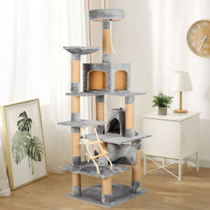 Extra Large Multilevel Climbing Cat Tree Scratching Post Condo Cats Pet Tower UK