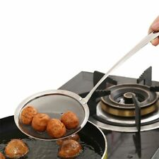 Clip Kitchen Fine Sifter Stainless Steel Oil Mesh Strainer Spoon Colander