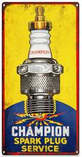 "Champion Spark Plug Metal Sign Advertising Repro Garage Shop 6x12"" 60196"