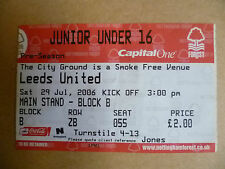 Nottingham Forest Surname Initial F Football Tickets & Stubs