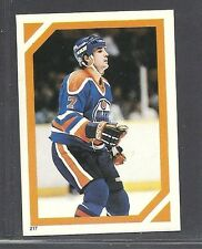 1985-86 O-Pee-Chee Album Stickers - #217 - Paul Coffey - Edmonton Oilers