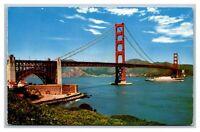San Francisco, CA California, Golden Gate Bridge to Marin Postcard Posted 1974
