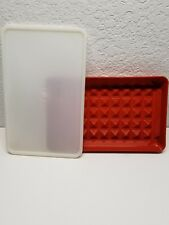 VTG Tupperware Bacon Deli Meat Hot Dog Marinade Keeper Paprika~ w/Seal - #1292