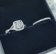Certified 2.50ct White Round Cut Diamond Engagement Ring & Solid 14K White Gold