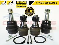 FOR JEEP GRAND CHEROKEE WG WJ FRONT 2x LOWER 2x UPPER SUSPENSION ARM BALL JOINTS