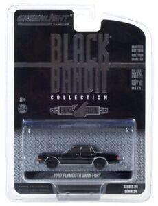 Greenlight 1/64 1987 Plymouth Gran Fury Black Bandit 28050-C