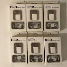 6x Packs iPhone 4 4G 4S 3GS iPod Nano Touch 4G USB Data Cable Charger & Adapter