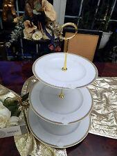 Noble grandes etagere 3 niveles Rosenthal Versace Meandre d 'or