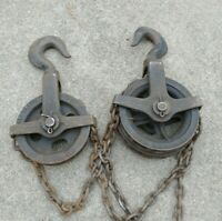 Vintage Chisholm Moore Blue Boy 1 Ton Direct Differential Chain Hoist NY USA