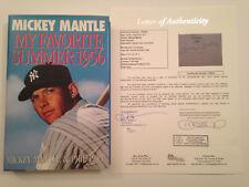 Mickey Mantle Signed My Favorite Summer 1956 Book JSA LOA COA NY Yankees HOF