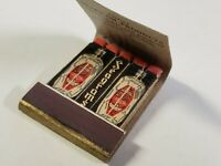 Vtg 1940s SEAGRAMS London Dry Gin Feature Matchbook - NEW, Unused Lion Match Co.