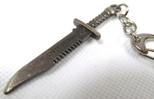 2 SIZES METAL RAMBO STYLE BLADE SWORD HUNTING KNIFE COLLECTOR'S NOVELTY KEYRING