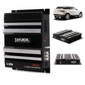 Car Audio Power Amp 3800w 2 channel Bass Box Amplifier Under Seat Subwoofer