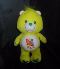 "9"" 2002 CARE BEARS LIME GREEN KITE DO YOUR BEST STUFFED ANIMAL PLUSH TOY DOLL"