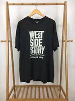 VTG Hanes 90s Men's West Side Story Summer 1998 Black T-Shirt Size XXL RARE