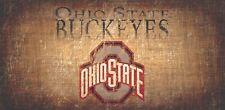 "Ohio State Buckeyes Throwback Retro Heritage Wood Sign 12"" x 6"" New Wall Decor"