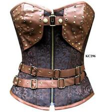 Brown Steampunk Steel Boned Tight Lace Cincher Overbust Size 24 Corset