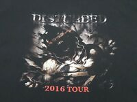 Disturbed 2016 Tour T-shirt Mens XL Black Cotton Heavy Metal Music Concert