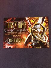 Band Signed Guns N' Roses Concert Poster Axl Signed Warfield Bgp344