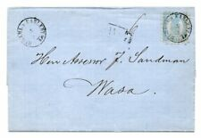FINLAND: Cover #8 Gamla Karleby to Wasa 1872, contents