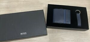 Hugo Boss Leather Wallet and keyring gift box